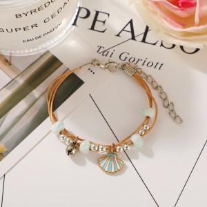 Rhinestone Decorative Women Fashion Bracelet - Golden