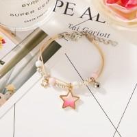 Stars Decorative Gold Plated Chain Bracelet