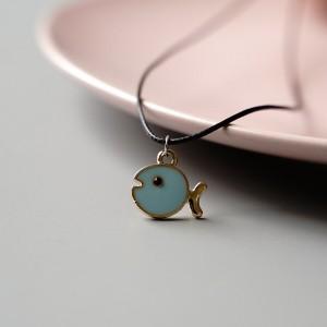 Pendant Style Women Fashion Fancy Necklace - Light Blue