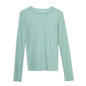 Thin Fabric Full Sleeves Women Fashion Top - Green