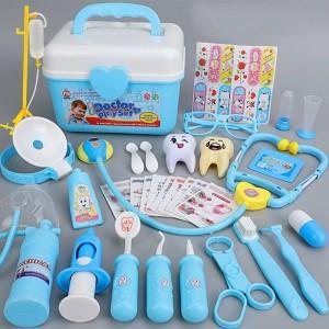 Cute Kids Playable Unisex Hospital Doctor Playable Toys Kit - Blue