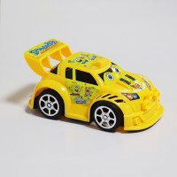 Sports Car Cute Kids Playable Toy - Yellow