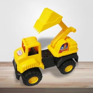 Kids Playable Cute Sand Lifting Crain Truck - Yellow
