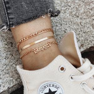 Multi Layered Braid Women Fashion Anklet