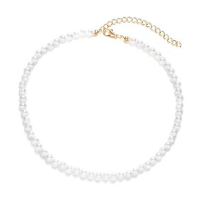 Pearl Decorative Choker Style Necklace - 6mm