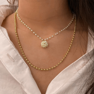 Multi Layered Gold Plated Hook Closure Necklace
