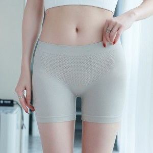 Breathable Solid Color Fitted Shorts Underwear - Gray