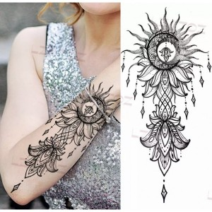 Printed Skin Friendly Non Toxic Easy Pasting Tattoo - Black