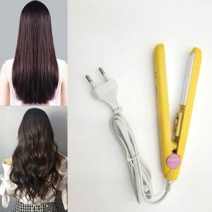 Mini Ceramic Hair Straightener Curling Rod Straightening