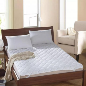 Double Size White Mattress Protector Pad Bed Cover