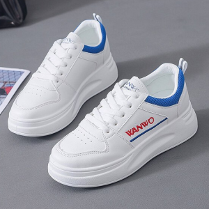 Thick Sole Lace Closure Synthetic Sports Wear Sneakers - Blue