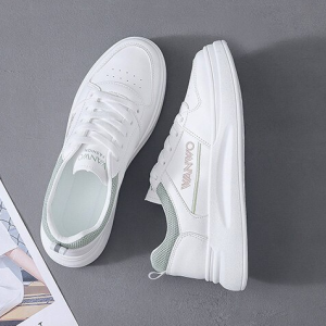 Thick Sole Lace Closure Synthetic Sports Wear Sneakers - Green