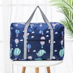 Nylon Zipper Closure Square Shaped Traveller Bags - Multicolor