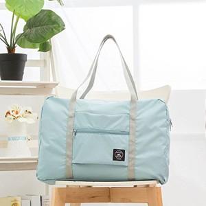 Nylon Zipper Closure Square Shaped Traveller Bags - Sky Blue