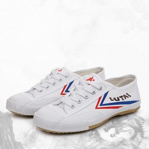 Canvas Lace Closure Sports Wear Sneakers - White