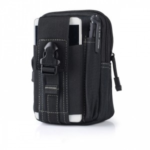 Zipper Closure Traveller Multipurpose Pouch Bags - Black and White