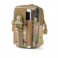 Zipper Closure Traveller Multipurpose Pouch Bags - Camouflage