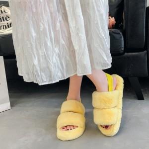 Flurry Elastic Slip Over Fashionable Sandals - Yellow