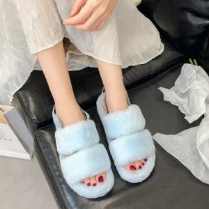 Flurry Elastic Slip Over Fashionable Sandals - Blue
