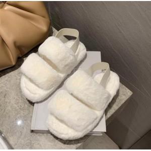 Flurry Elastic Slip Over Fashionable Sandals - White
