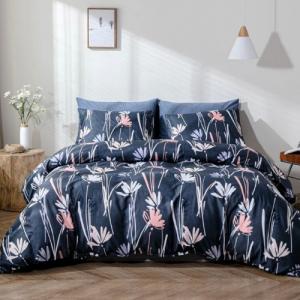 Without Filler 6 Pieces King Size Floral Design Bedding Set