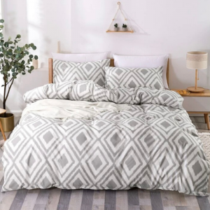 Without Filler 6 Pieces King Size Geometric Design Bedding Set