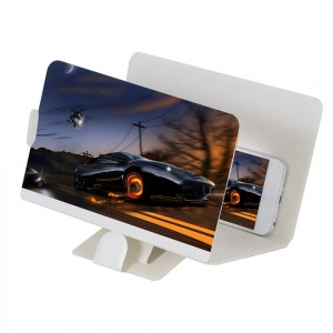 3D Mobile Phone High Definition Video Eye Protection Magnifier - White