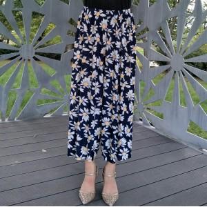 Thin Fabric Summer Wear Beach Trouser Pants - Multicolor