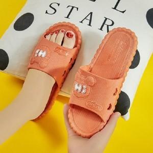 Fine Quality Plastic Cute Cartoon Casual Wear Slippers - Orange