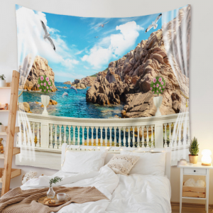 Sea View Design Wall Hanging Tapestry Home Decor