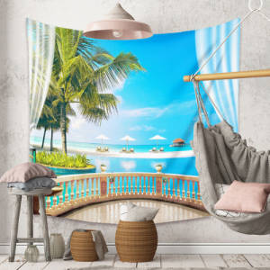 Beach View Design Wall Hanging Tapestry Home Decor