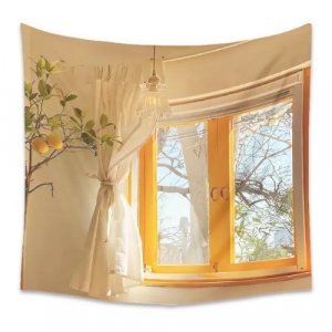 Beautiful Window View Design Wall Hanging Tapestry Home Decors
