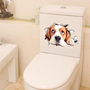 3D Cute Poppy Decoration Toilet Seat Stickers - Multicolor