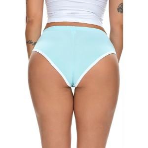 Medium Waist Sexy Women Workout Yoga Sportswear Short - Light Blue