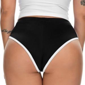 Medium Waist Sexy Women Workout Yoga Sportswear Short - Black