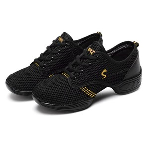 Mesh Hollow Stitched Casual Wear Sneakers - Black Yellow