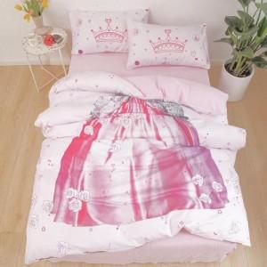 Lady Dress Design Without Filler 4 Pieces Single Size Bedding Set