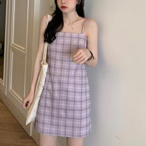 Geometric Print Women Fashion Mini Dress - Purple