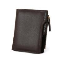 Zipper Cosure Premium PU Leather Money Wallet - Brown