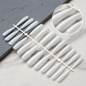 Set Of 24Pcs Self Adhesive Shiny Women Fashion Fake Nails