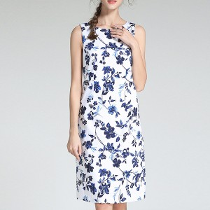 Sleeveless Round Neck Summer Wear Mini Dress