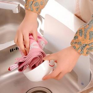 Kitchen Wash Basin Sucker Sink Water Splash Guards Dish Washing Baffle Board