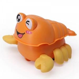 Cute Walking Crab Playable Toy For Children - Orange