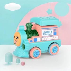Mini Train Contrast Kids Playable Toy - Blue