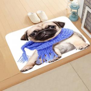 Cute Dog Print Home Floor Mat