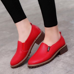 Synthetic Leather Women Fashion Formal Wear Shoes - Red