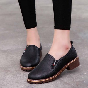 Synthetic Leather Women Fashion Formal Wear Shoes - Black