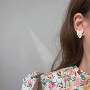 Cute Heart Doodle Clashing Color Earrings - Multicolor