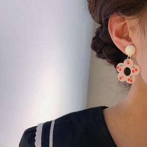 Cherry Flowers Lovely Earrings - Pink