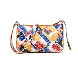 Animal Print Zipper Closure Casual Messenger Bags - Multicolor